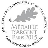 Médaille d'Argent Paris 2015