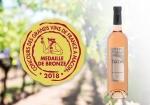 Notre Rosé Chateau Trians 2017 médaillé!